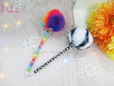 ☆[Hankaro]☆流行可愛毛絨球原子筆