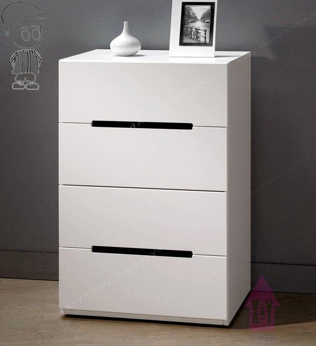 【X+Y時尚精品傢俱】現代櫥櫃系列-波爾卡 2尺白色四斗櫃.新型45度斜面把手.摩登家具