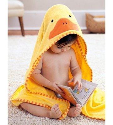 【現貨出清】QB 選物》美國Skip Hop 正品 -  可愛動物園連帽浴巾 -小鴨子