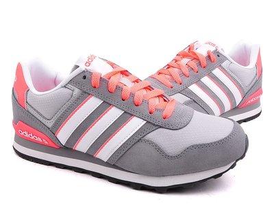 運動GO~ ADIDAS 愛迪達 慢跑鞋 休閒鞋 灰粉紅 麂皮 F97664 穿搭 有大尺寸US9 女款