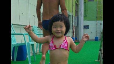 兒童比基尼 荷葉邊二件式泳衣   女童泳裝 寶寶游泳褲