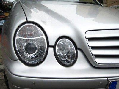 ~~ADT.車燈.車材~~賓士BENZ W208 CLK H7魚眼銀底大燈一組