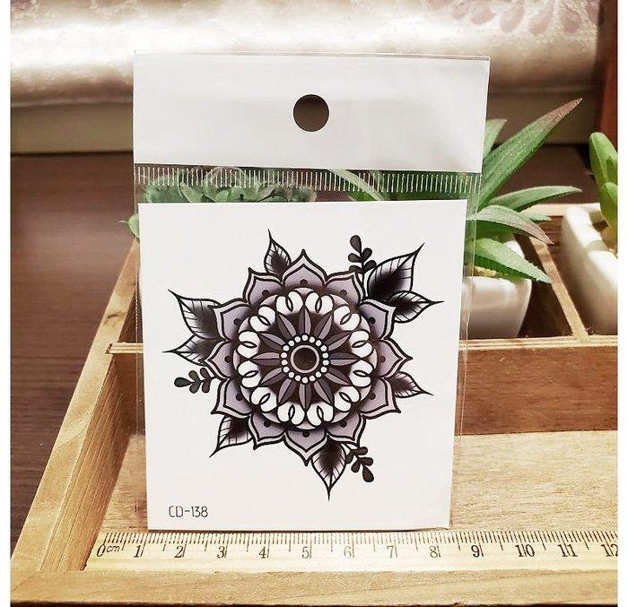 【萌古屋】】花朵圖騰 - 手背防水紋身貼紙刺青貼紙CD-138 K12