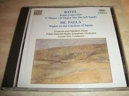 *阿威的音樂盒。CD。古典*NAXOS【RAVEL-DE FALLA: PIANO CONCERTOS】品相優 值得收藏