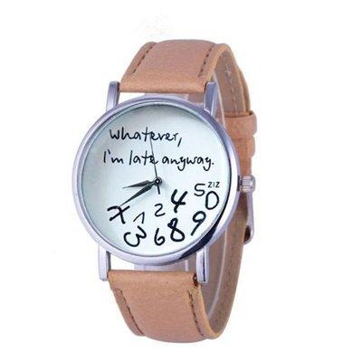 預購款-whatever I'am late anyway手表皮帶手表
