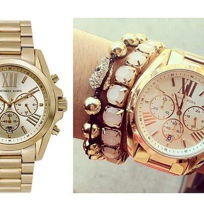 ☆美國Michael Kors代購網☆ MK手錶 潮流時尚金色三眼計時石英錶 腕錶 MK5605 單個 正品 附購證