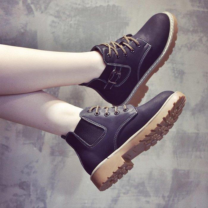 ❤Princess x Shop❤出清不退換馬丁靴英倫風百搭靴子切爾西短靴鞋子DL8110233