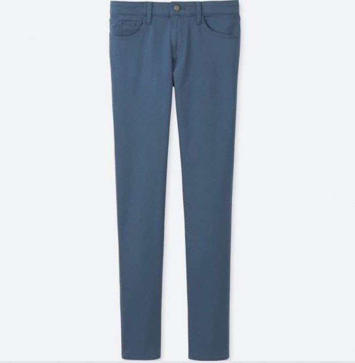 九成新 UNIQLO jeans 402788 79CM 彈性 SKINNY FIT 牛仔褲 灰藍色