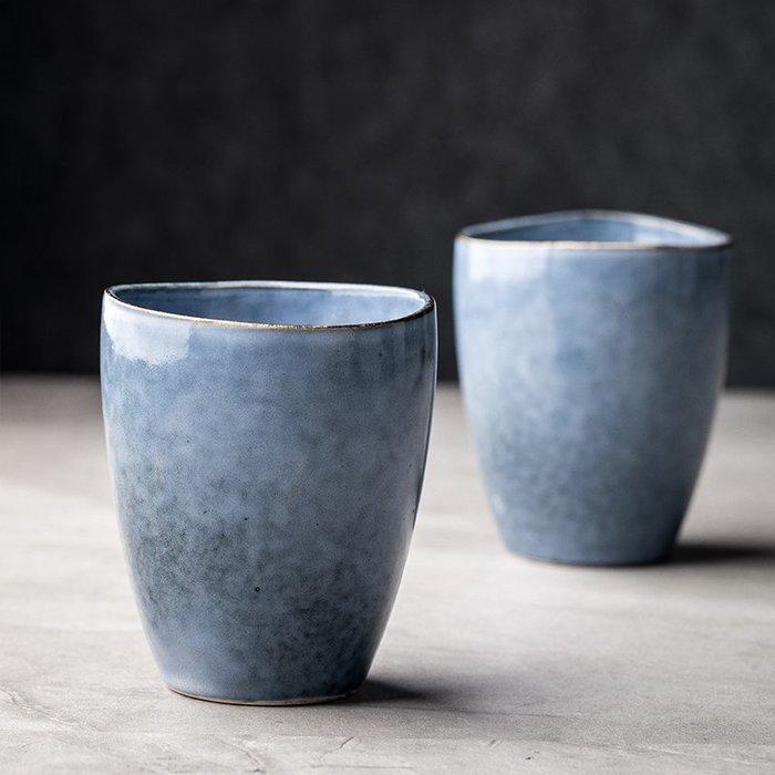 家用小茶杯單個 創意湯吞 北歐無把陶瓷水杯 復古品茗杯茶盞杯子