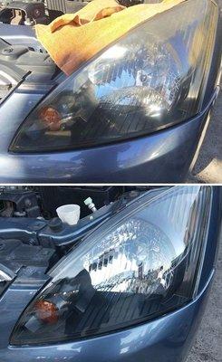 大燈快潔 Mitsubishi 三菱 Space Gear Super Zinger 原廠大燈泛黃霧化拋光翻新處理