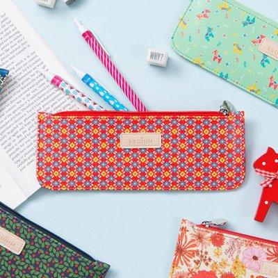 Growlife種生活 ▶韓國 ARDIUM – Pattern slim pencil case 花漾皮革 筆袋 / 鉛筆盒 / 筆盒