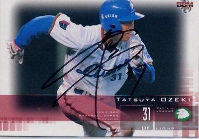 貳拾肆棒球-BBM日本職棒西武獅小関竜也 親筆簽名  球卡