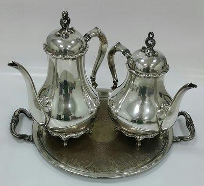 430 高級英國鍍銀壺組 Vintage Silverplate Ornate teapots set