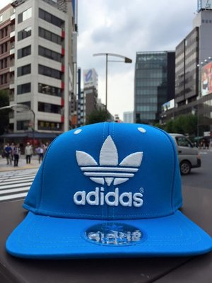 【Meaningful store】Adidas Snapback Cap Blue 經典三葉草 日本帶回