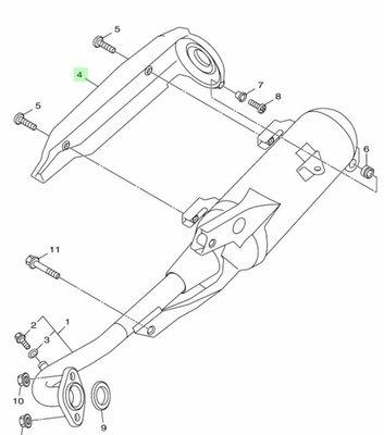 【車輪屋】YAMAHA 山葉原廠零件 New Cuxi 115 防燙蓋 排氣管護片 $450 另有其他原廠零件 優惠中