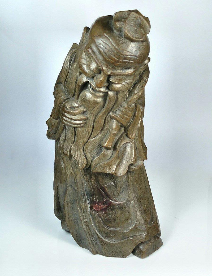 【古珍品】清代    東方朔竹雕人物像