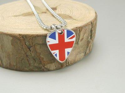 【POP+潮飾界】國旗系列之United Kingdom 大不列顛及北愛爾蘭聯合王國 (英國) 不鏽鋼項鍊(單條)