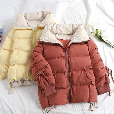 好物多商城 面包服女棉衣外套新款冬季韓版加厚棉服港風抽繩系帶棉襖A279