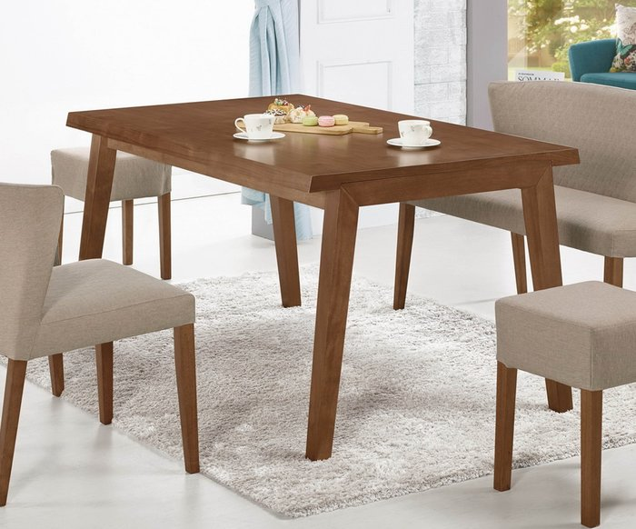 【NKD傢俱裝潢館 】亞伯5尺胡桃色餐桌(不含椅)   促銷價 $13800元 CM 942-1 $