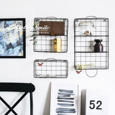 [ Atelier Smile ] 鄉村雜貨 北歐風 鐵製壁掛架 牆上收納架 收納 鐵籃 三件組/SET #新品優惠免運