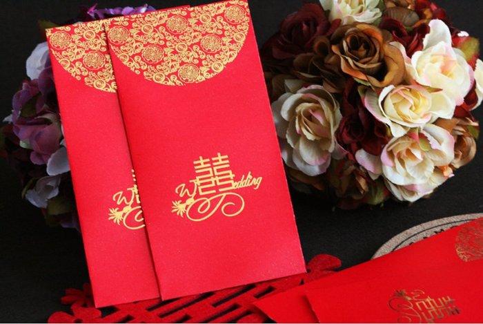 高級燙金囍字紅包袋 * 婚禮紅包 紅包袋 花童紅包 伴郎 伴娘 6禮 12禮 囍字 過年紅包 婚禮小物 婚禮禮物