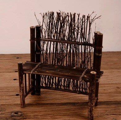 【自在坊】【特價分享】竹籬笆茶具展示台 復古竹編造型 擺件造型造景 櫥窗展示 手工創意 【全館滿599免運】