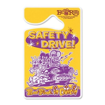 (I LOVE樂多)RAT FINK Parking Permit Safety Drive停車圖示吊卡
