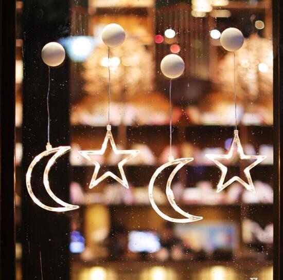 聖誕節裝飾品場景布置店鋪裝扮小挂件櫥窗玻璃貼雪花鈴铛燈飾擺件 莎芭