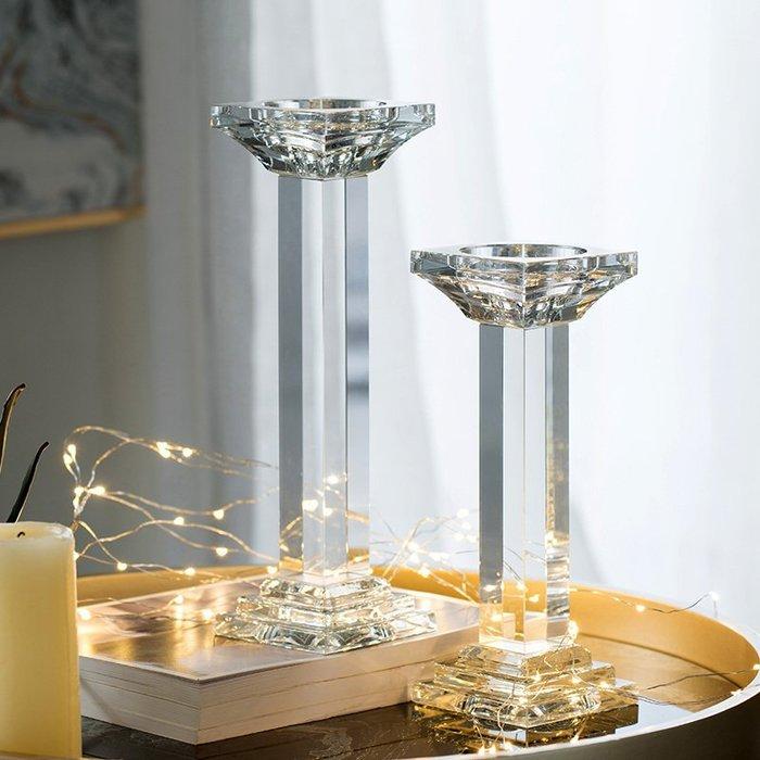 〖洋碼頭〗美國歐式玻璃水晶蠟燭創意燭臺婚慶晏會浪漫裝飾擺件 shx440