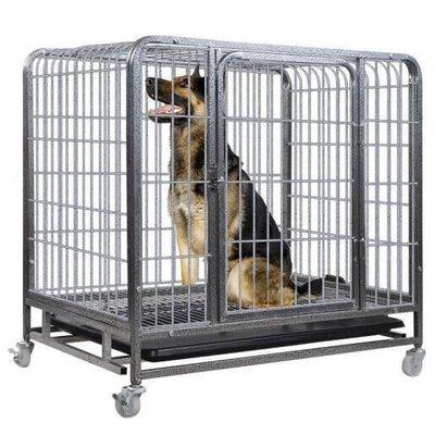 全館免運 狗籠大型犬 中型犬狗籠子墊板小型犬加粗加密方管籠子寵物狗用品[養殖]-99