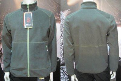 CARAVA 男款刷毛外套 (軍綠) 400g/m2超厚保暖透氣FIEECE羔羊刷毛 **特價1790元**