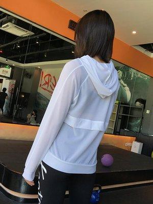 健身服 健身馬甲 速乾服 運動服 跑步服 岸非 專業速干運動健身衣寬松休閑透視網眼連帽跑步運動上衣