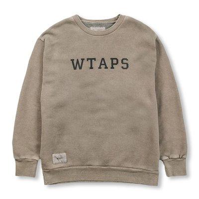 WTAPS_39 COLLEGE. DESIGN CREW NECK / SWEATSHIRT. COTTON 兩色