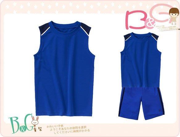 【B& G童裝】正品美國進口GYMBOREE藍色排汗背心上衣8,10,12號7-8-9-10yrs