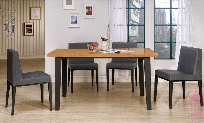 【X+Y時尚精品傢俱】現代餐桌椅系列-馬丁 5尺實木面黑腳餐桌不含餐椅.簡約風.摩登家具