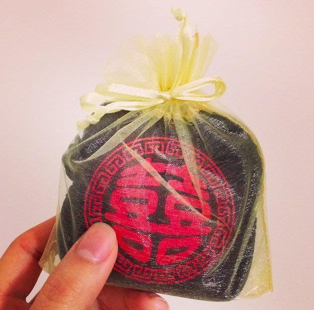 金色束口紗袋10cm*12cm 包裝小禮物的最佳方式 28個售55元