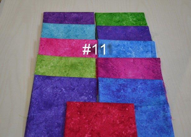 *巧巧布拼布屋*美國進口~渲染棉布組編號11壁飾布料--11片 --可搭手染布/ 拼布材料