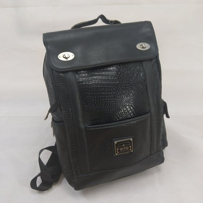 【candy二手小舖】rite 鱷魚紋雙肩經典後背包