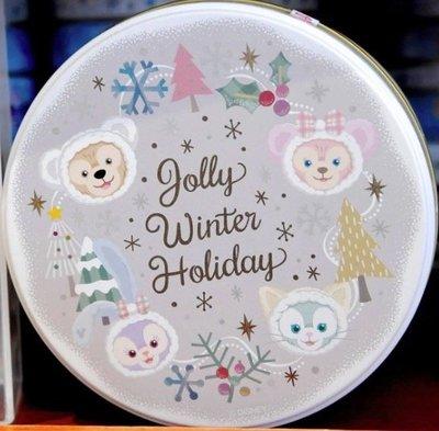 Ariels Wish日本東京迪士尼2019聖誕節達菲熊Duffy雪莉玫傑拉東尼史黛拉兔雪人禮物巧克力鐵盒收納盒-絕版品
