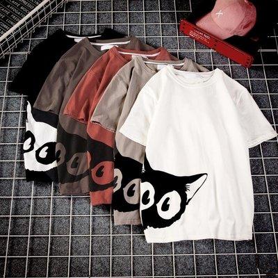 T恤 日系男士寬松短袖T恤韓版潮流情侶裝衣服ins超火的上衣男