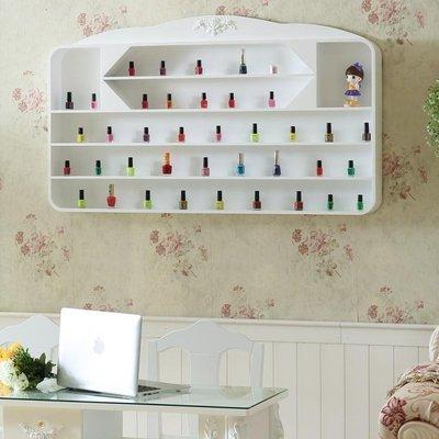 ☜男神閣☞美甲壁掛架 指甲油架白色化妝品展示架 美容/美甲店掛壁隔板