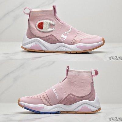 潮牌Champion Cabinet針織套腳襪子鞋 鬆緊帶式 網面透氣 中筒潮搭 修腿顯高 女神款 2020新配色