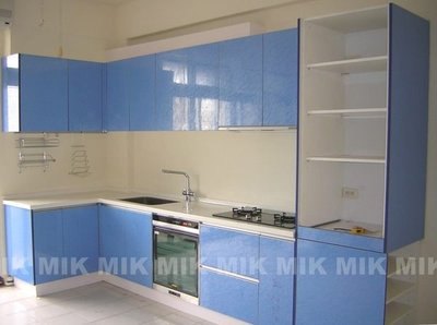 市場最低價【買廚具看評價口碑第一】MIK廚具直營㊣粉藍系統廚具+電器櫃林內內焰瓦斯爐