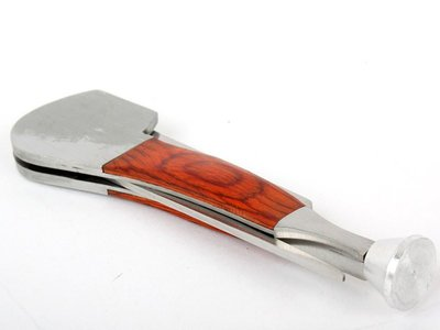 [GIFUTO] 菸斗菸刀菸絲輔助工具 菸斗用菸刀/押棒/通針不銹鋼三合一工具 – 紅木帶銀頭款
