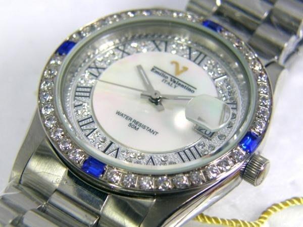 六四三鐘錶精品店@Emilio Valentino(真品)手錶來自義大利的品牌珠寶純手工爪鑲嵌水晶鑽~