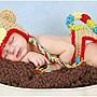 ♥萌妞朵朵♥新生兒寶寶可愛猴子造型寶寶攝...