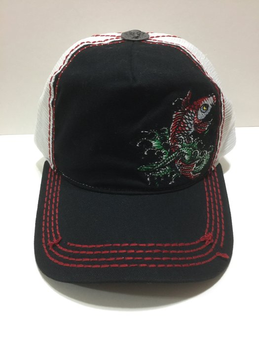 Ed Hardy 現貨 帽 鯉魚 車繡 卡車帽 脫線設計 全新真品 老帽