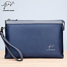 澳洲名牌 KANGAROO 袋鼠潮男平板包 牛津布手機包 帆布手拿包