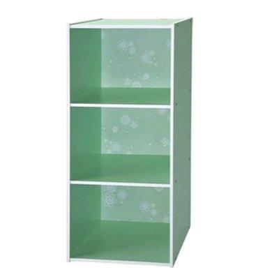 書櫃【居家大師】3格空櫃~自然綠_1300-GR   書櫃/收納櫃/層架/置物櫃/書架(C)