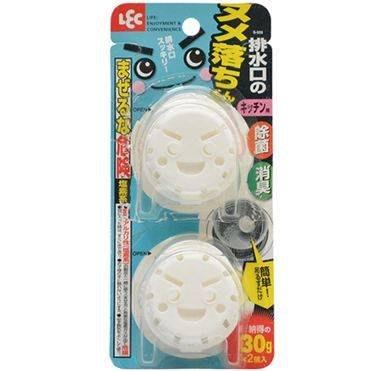 日本LEC排水孔清潔碇2入一組   排水口清潔